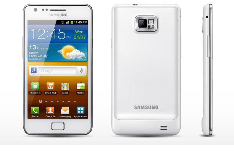 Samsung galaxy s2 in weiß